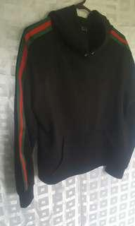 Red and green stripe Alley Hoodie