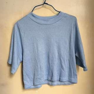 [全新韓國購入]粉藍色短T