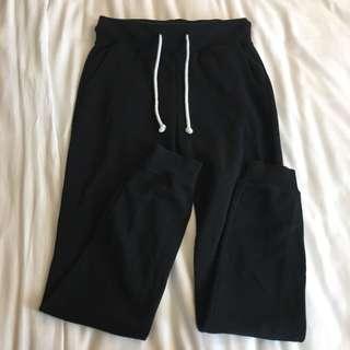 🚚 INSTOCK | h&m black twill joggers