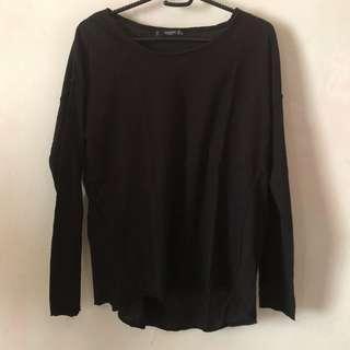 MANGO Basics black shirt