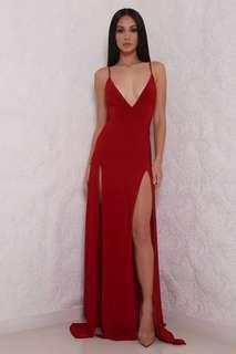 ABYSS BY ABBY elle gown formal dress red
