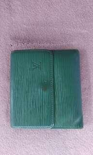 LV trifold green epi leather