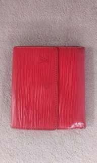 LV trifold red epi leather