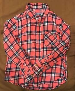 🚚 雙胞胎lativ 法蘭絨襯衫130cm兩件