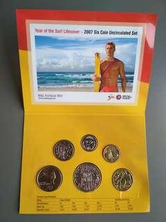 Australia's Coins. 2007 Six Coin Uncirculated Set.