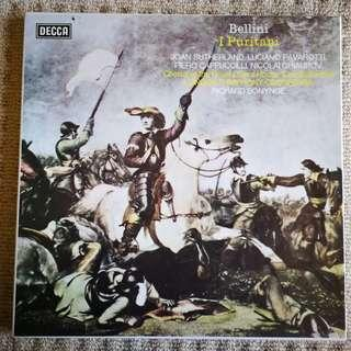 Bellini i Puritani Opera Decca Vinyl 3x LP Album Stereo Near NEW