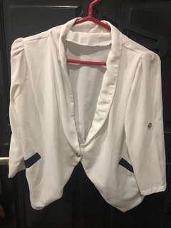 White chifon blazer