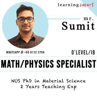 NUS PhD Math & Physics home tuition