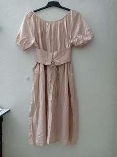 Pale brown dress
