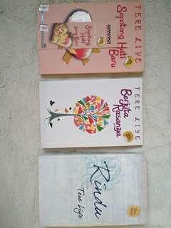 Paket Buku Novel Ter Liye (Rindu, Sepotong hati yang baru, Berjuta Rasanya)