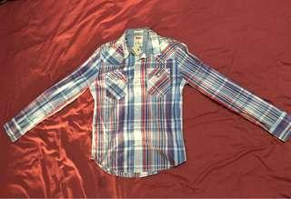 Levis plaid long sleeve