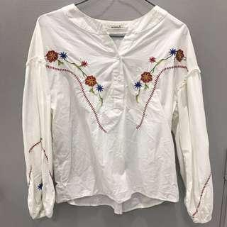 Mirrocle Embroidered Oversized Top