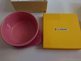 Le Creuset 日版rose quartz plate on dish 早餐碗