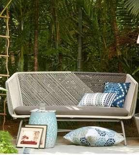 🚚 Outdoor Wicker Sofa 2 Seater (3 Seater Available)