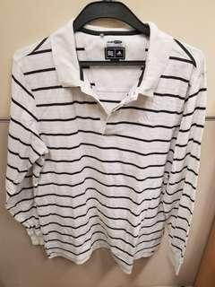 Adidas stripes polo 橫間
