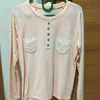 Sweater Korea Peach