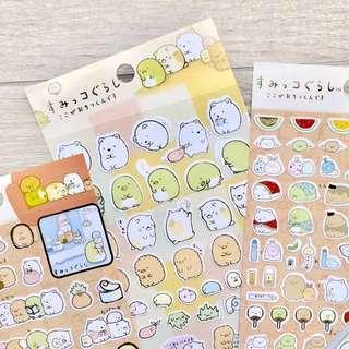 🚚 Sumikko Gurashi Sticker Sheets (8 Designs)