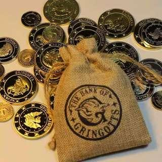 Harry Potter Bank of Gringotts Coin Bag