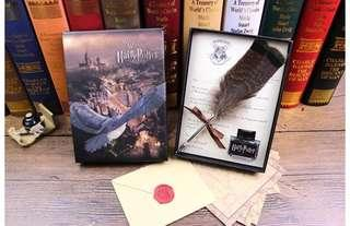 Harry Potter Quill and Hogwarts Entry Letter
