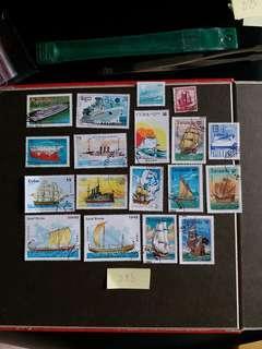 D83 船隻郵票 已銷郵票