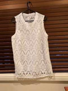 White lace top size 8