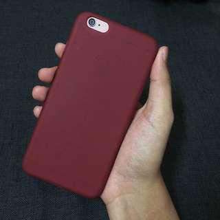 6plus/6splus Wine Red matte case