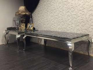 限時特價 二手 歐式 黑色人造大理石 九成以上新 桌子