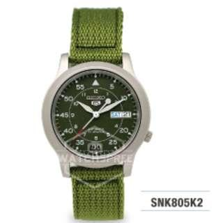 FREE DELIVERY *SEIKO GENUINE* SNK805K2 100% Authentic with 1 Year Warranty!