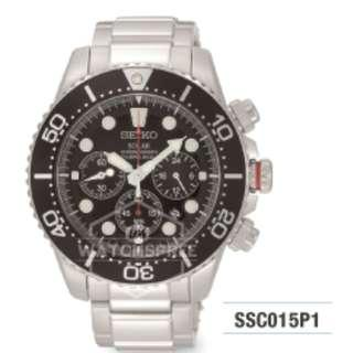 FREE DELIVERY *SEIKO GENUINE* SSC015P1 100% Authentic with 1 Year Warranty!