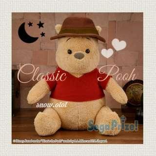 日版Classic Pooh公仔☆BIG! 日本直送 Disney/迪士尼/小熊維尼/bear/gift/soft toy/plush/kids doll/accessories