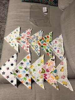 🚚 純棉 三角巾 口水巾 三角口水巾