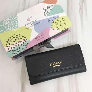 KINAZ 近全新 長夾 皮夾 牛皮 精緻禮盒組