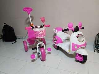 🚚 Kids Tricycle and Motorbike (Pink)