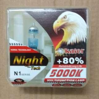 headlight bulb +80% 5000K