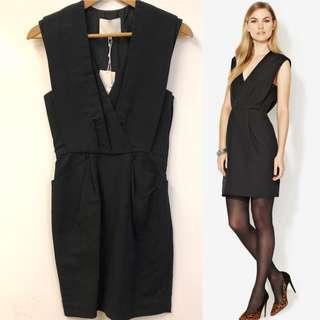 斯文裙 New 3.1 phillip lim v-neck black dress size 0