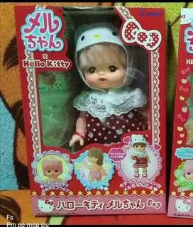 Mell chan doll hello kitty collaboration