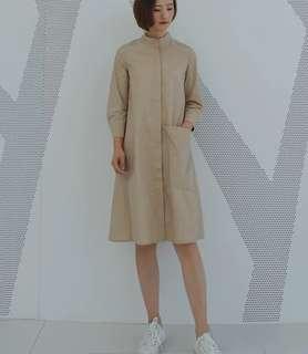 Cos style long beige dress