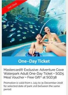 Adventure cove and meal vouchers