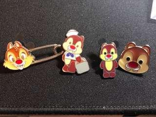 大鼻鋼牙 chip and dale Disney pin trading 迪士尼徽章 襟章