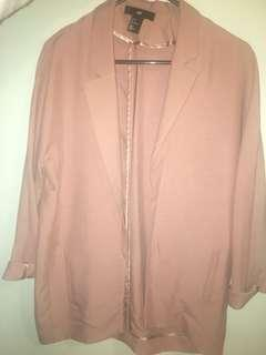 Blush Rose Relaxed Style Blazer H&M Brand New