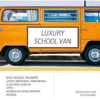LUXURY VAN TRANSFER STUDENTS /DAY TRIP /RENT