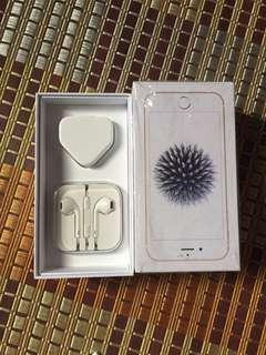 Earphone and charger iphone original