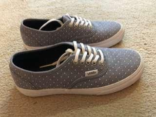 VANS Blue and white polka dot