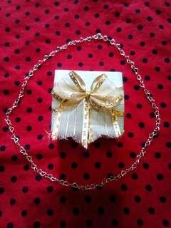 """925 silver heartlink necklace 18"""""""