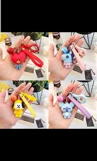 Pre-Order For Unofficial BT21 Silicone Key Ring