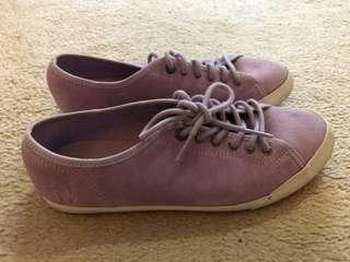 Le coq purple suede sneakers