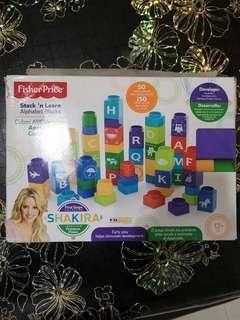 Fisher price stack n learn alphabet blocks