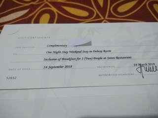ShangriLa Hotel gift voucher