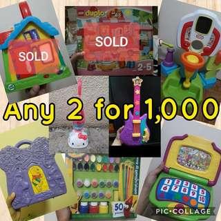 Toy sale any 2 for 1,000