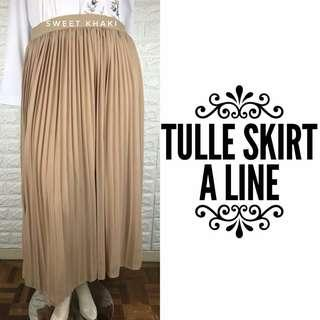 Tulle Skirt A-line Fit Plus Size